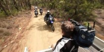 channel 7 camera crew filming 3 motorcyclists