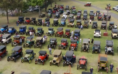 ford model T car rally in windsor, sydney australia