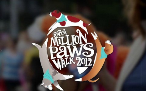 rspca million paws walk 2012 logo