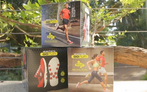 skechers go run shoe box