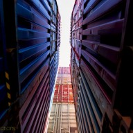 Perspective-view-between-2-containers
